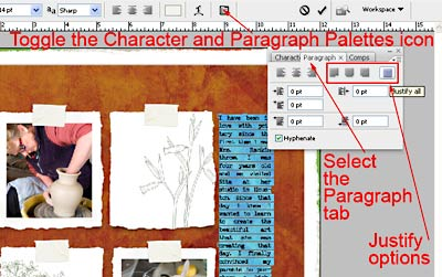 Photoshop tutorial justified text the other three justify all text except the last line of your journaling these options allow you to choose how photoshop will ccuart Image collections